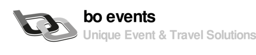 Logo: bo events - Unique Event & Travel Solutions
